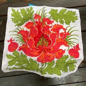 Vintage Silk Napkins-  Set of 4